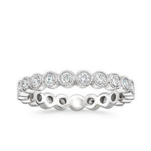 3.00 Ct sparkling round cut diamonds ladies weddin